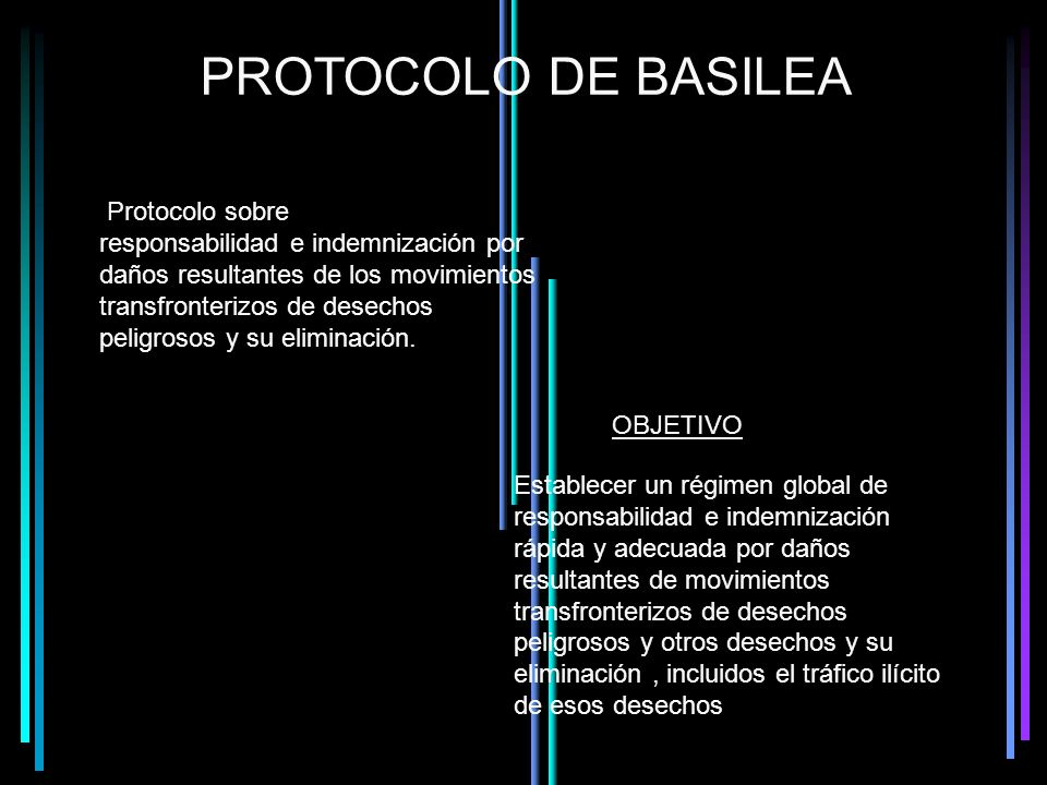 PROTOCOLO DE BASILEA Protocolo sobre