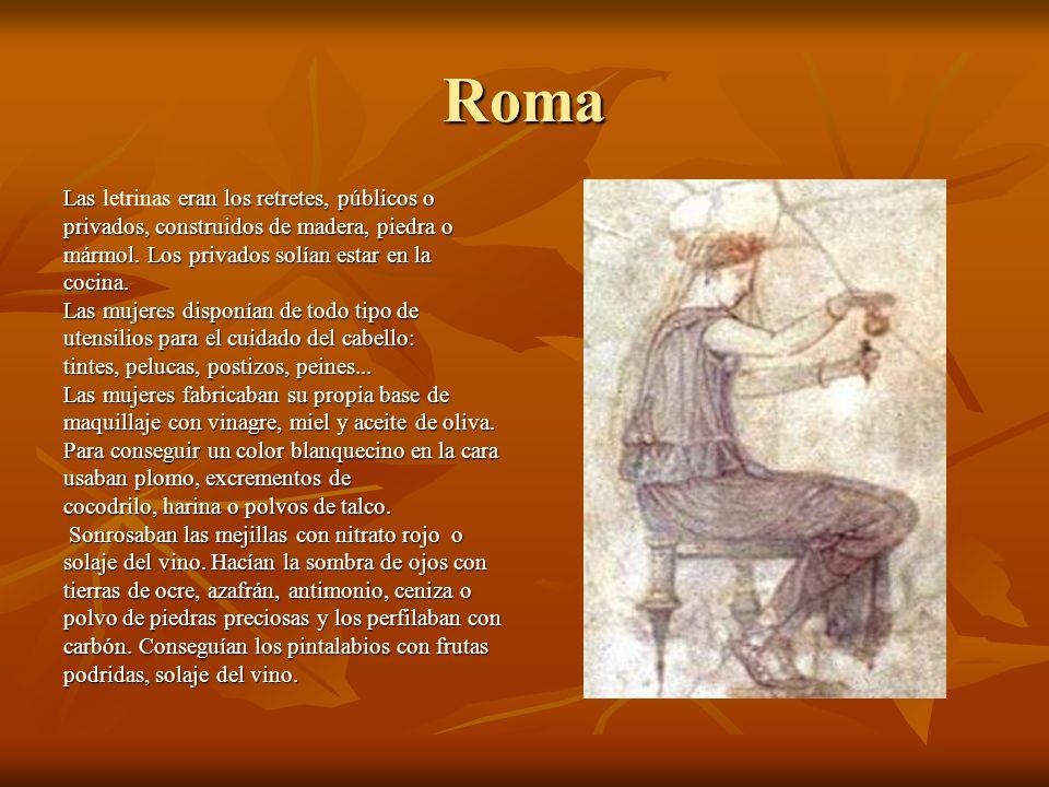 Roma Las letrinas eran los retretes, públicos o