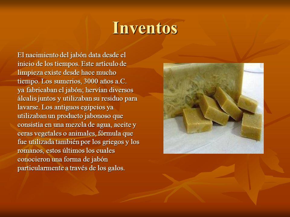 Inventos El nacimiento del jabón data desde el