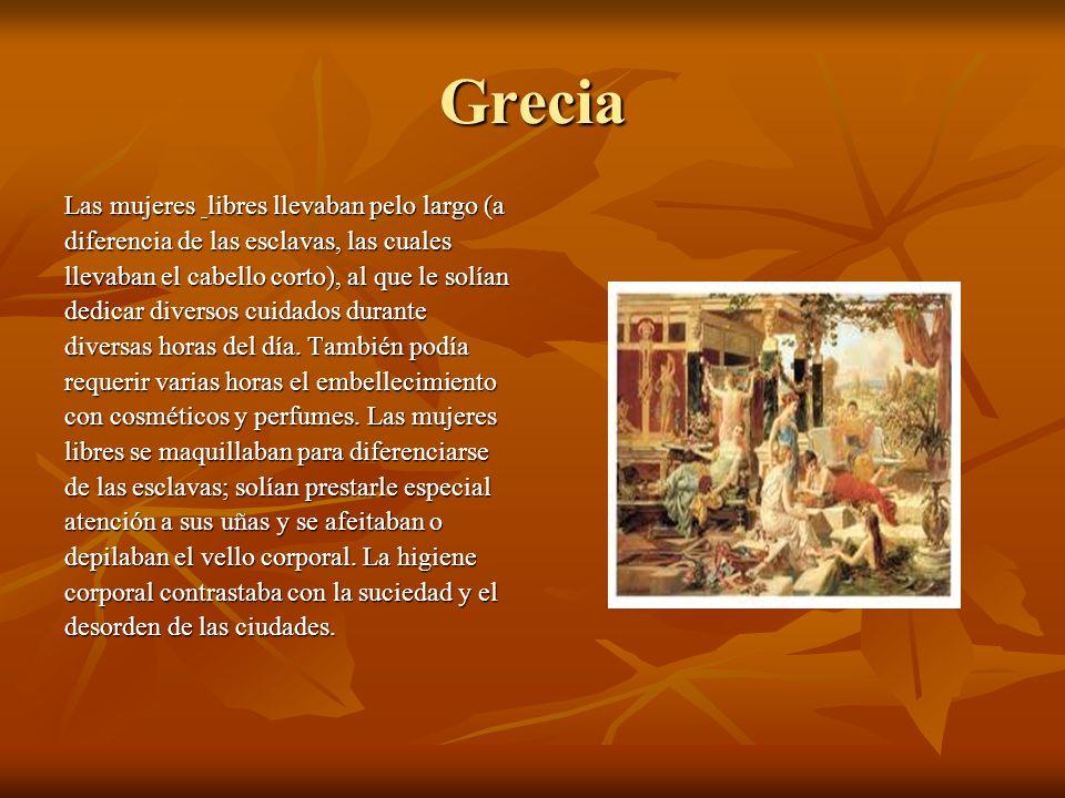 Grecia Las mujeres libres llevaban pelo largo (a