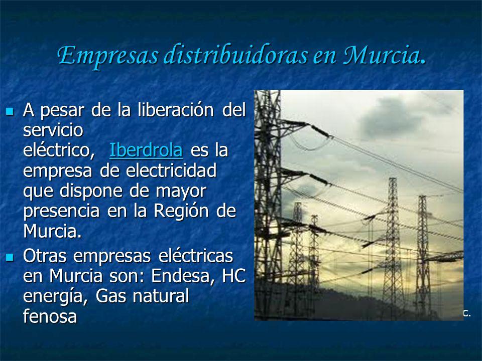Empresas distribuidoras en Murcia.