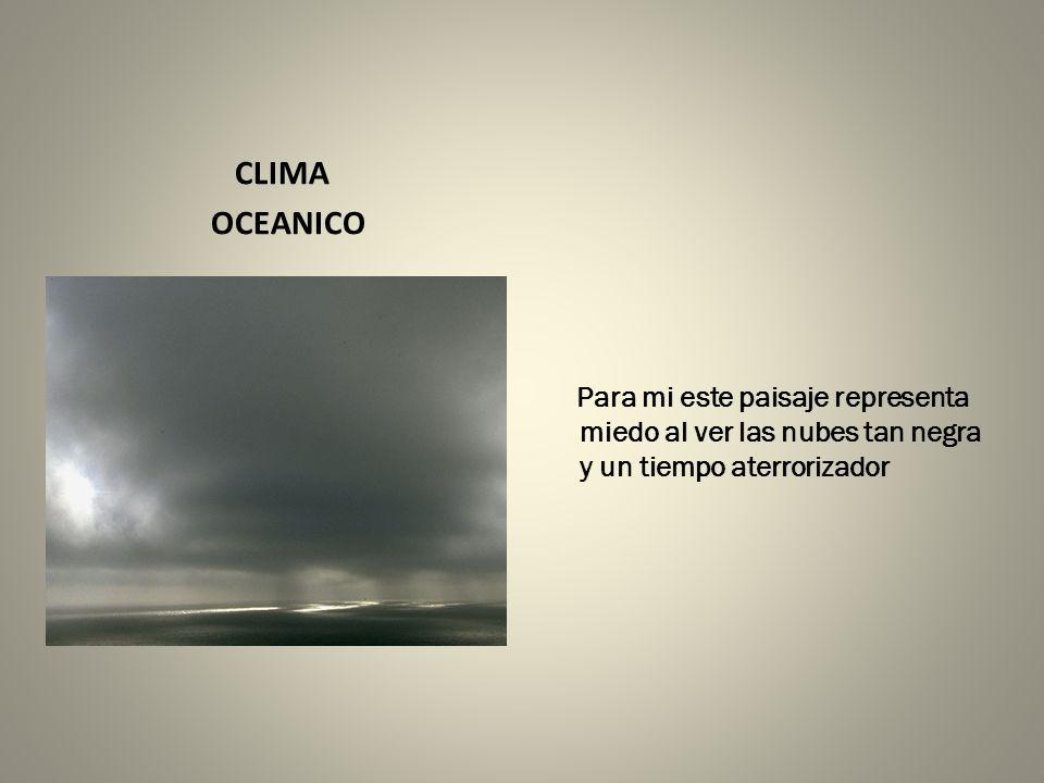 CLIMA OCEANICO.