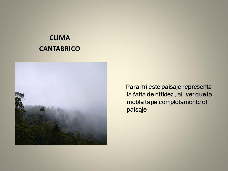 CLIMA CANTABRICO.