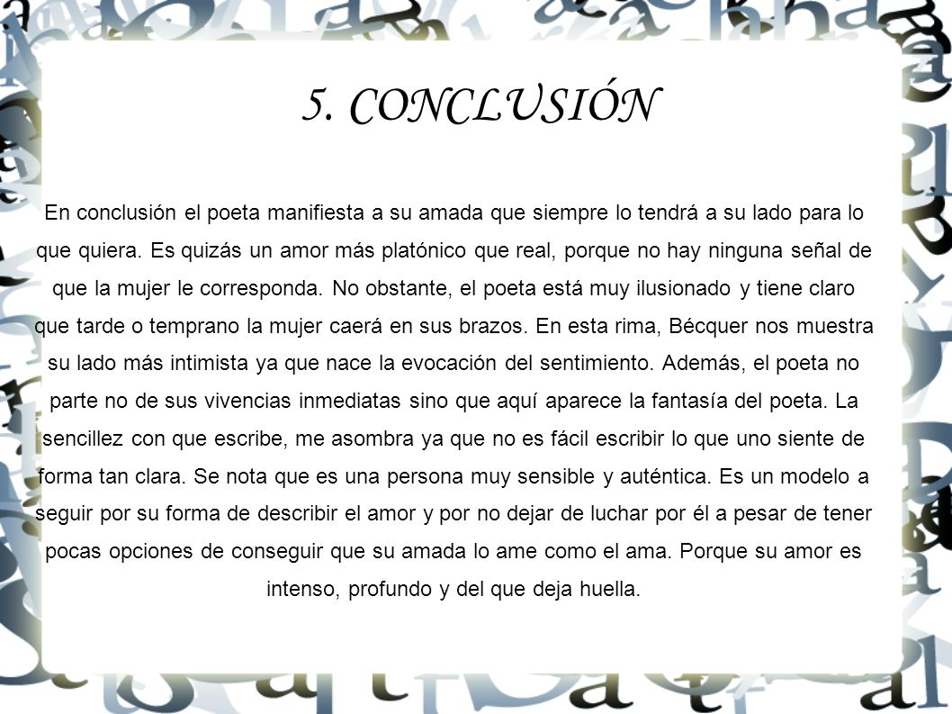 5. CONCLUSIÓN