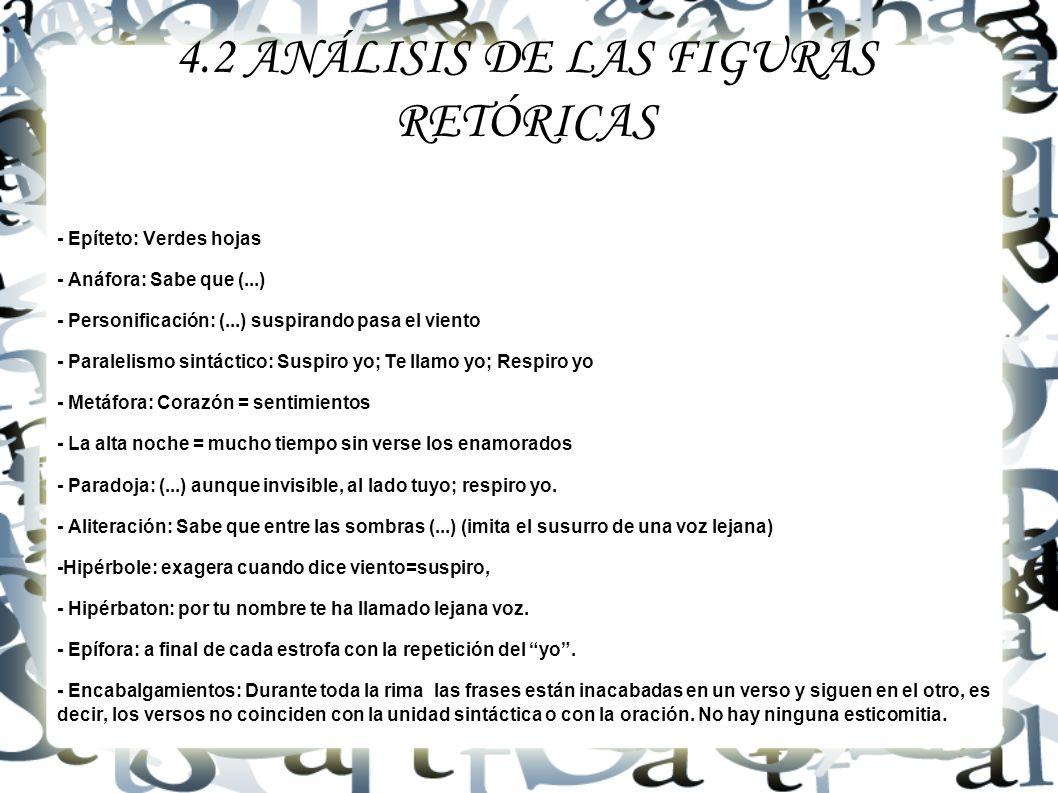 4.2 ANÁLISIS DE LAS FIGURAS RETÓRICAS