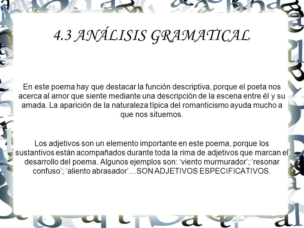 4.3 ANÁLISIS GRAMATICAL