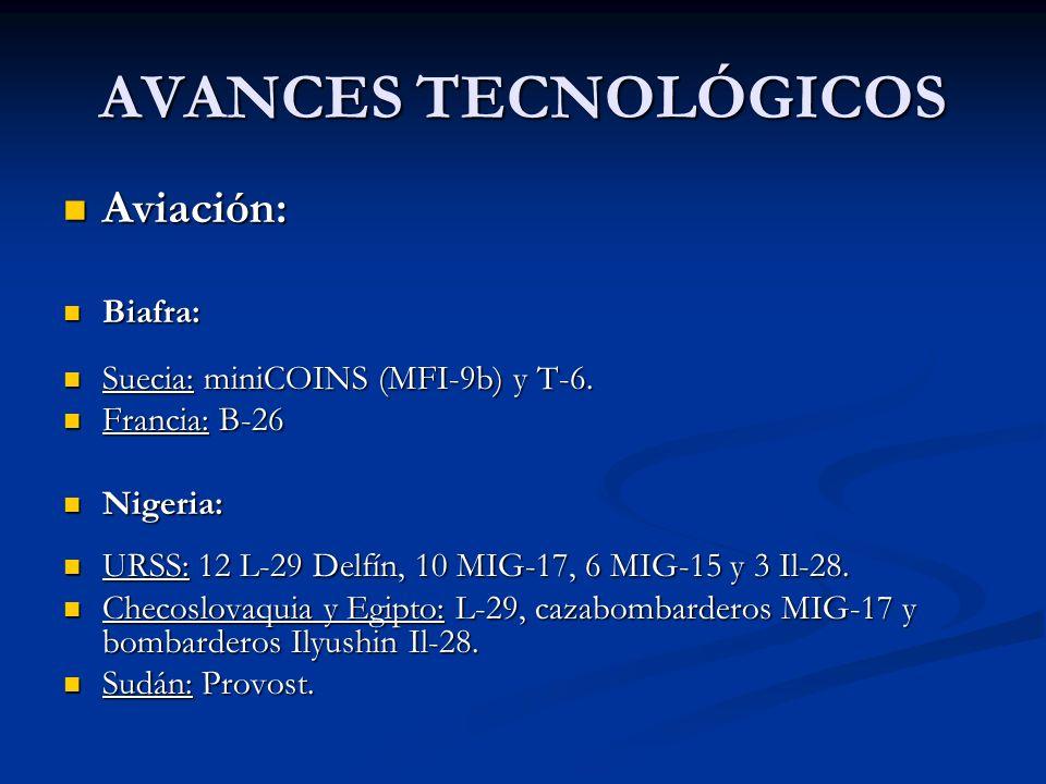 AVANCES TECNOLÓGICOS Aviación: Biafra: