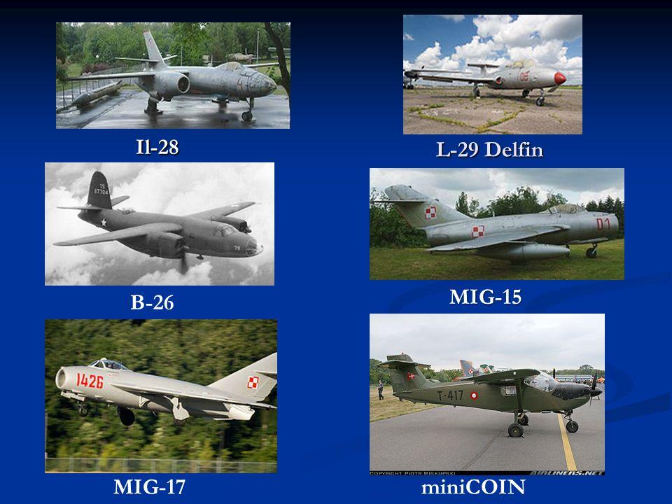Il-28 L-29 Delfin MIG-15 B-26 MIG-17 miniCOIN