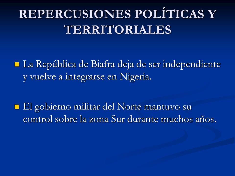 REPERCUSIONES POLÍTICAS Y TERRITORIALES