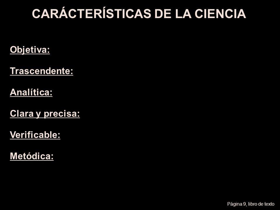 CARÁCTERÍSTICAS DE LA CIENCIA