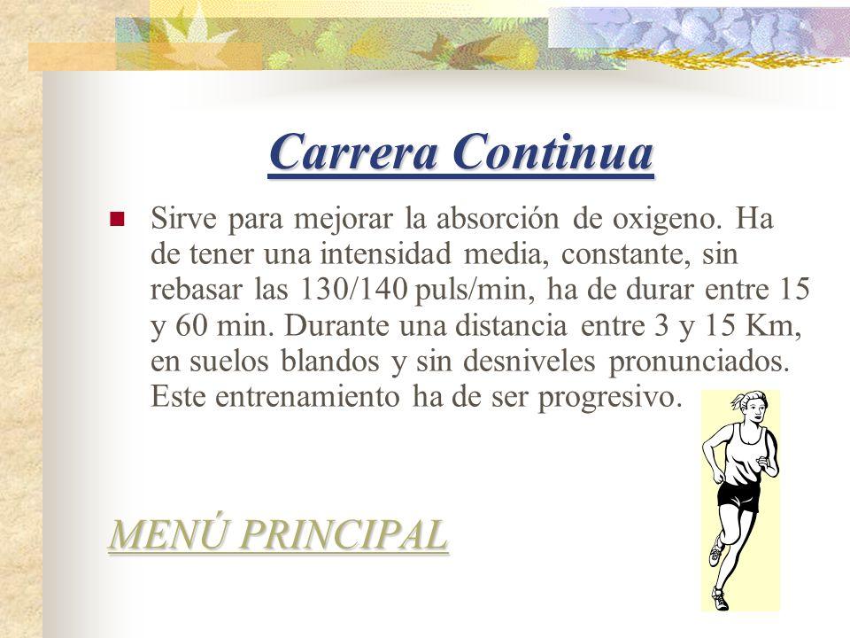 Carrera Continua MENÚ PRINCIPAL