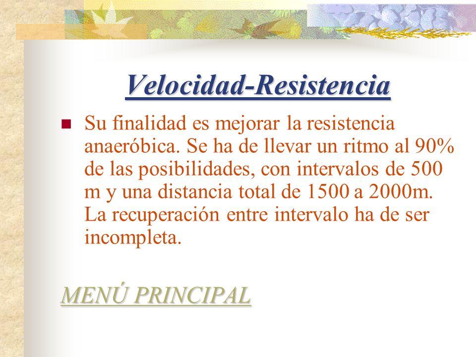 Velocidad-Resistencia