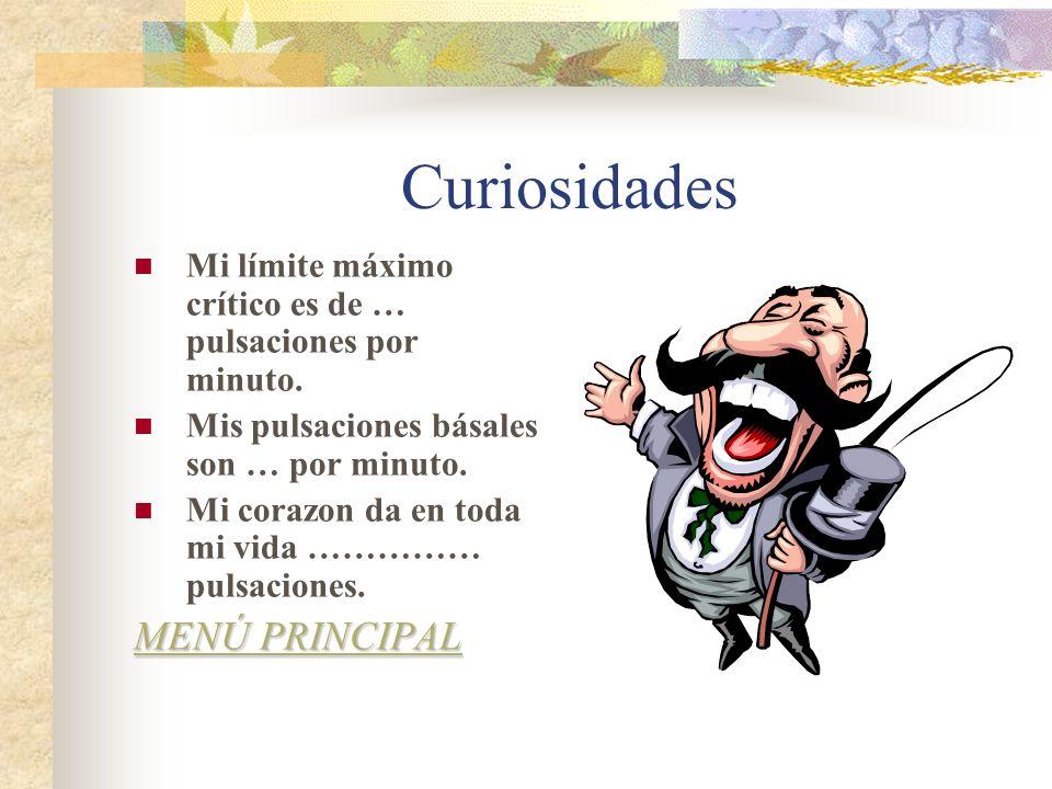 Curiosidades MENÚ PRINCIPAL