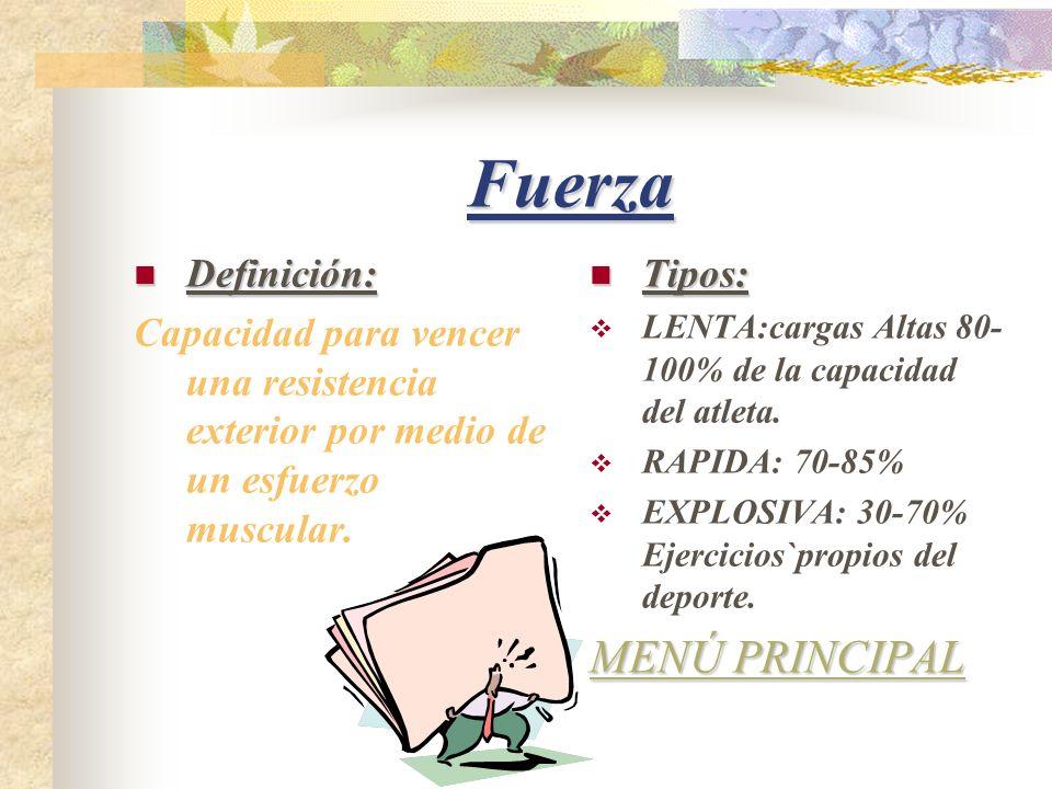 Fuerza MENÚ PRINCIPAL Definición: