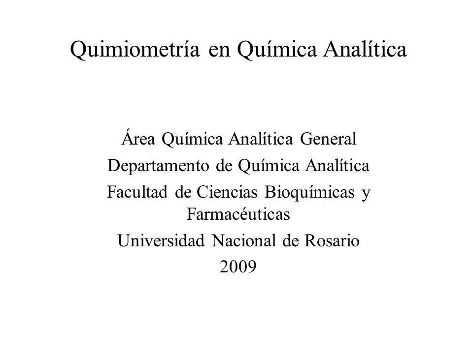 Quimiometría en Química Analítica
