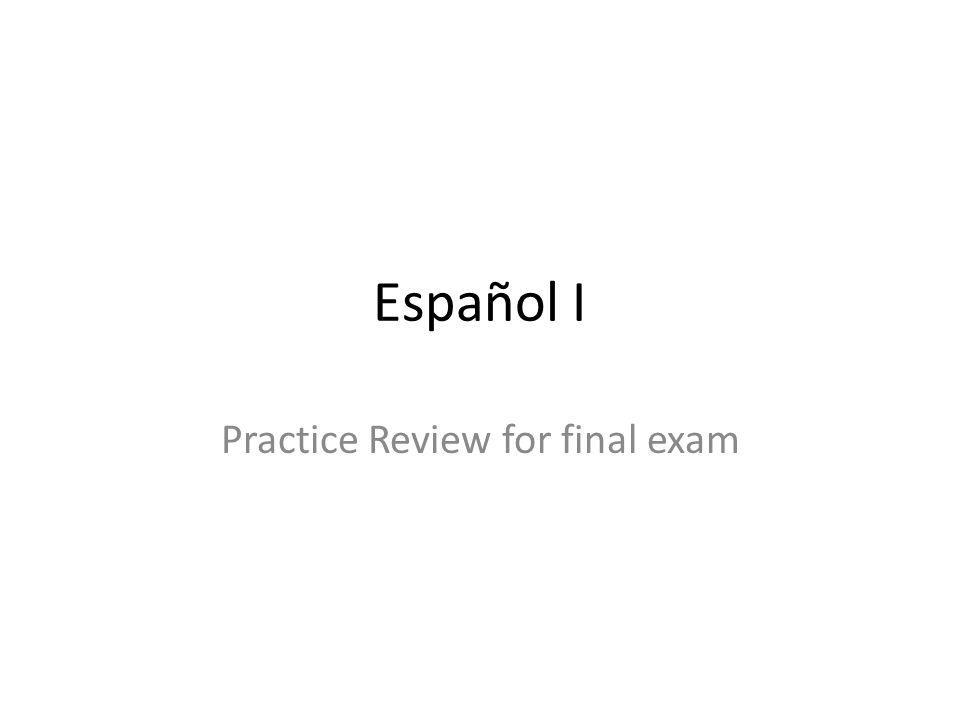 Practice Review for final exam