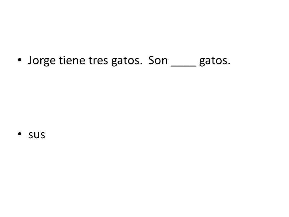 Jorge tiene tres gatos. Son ____ gatos.