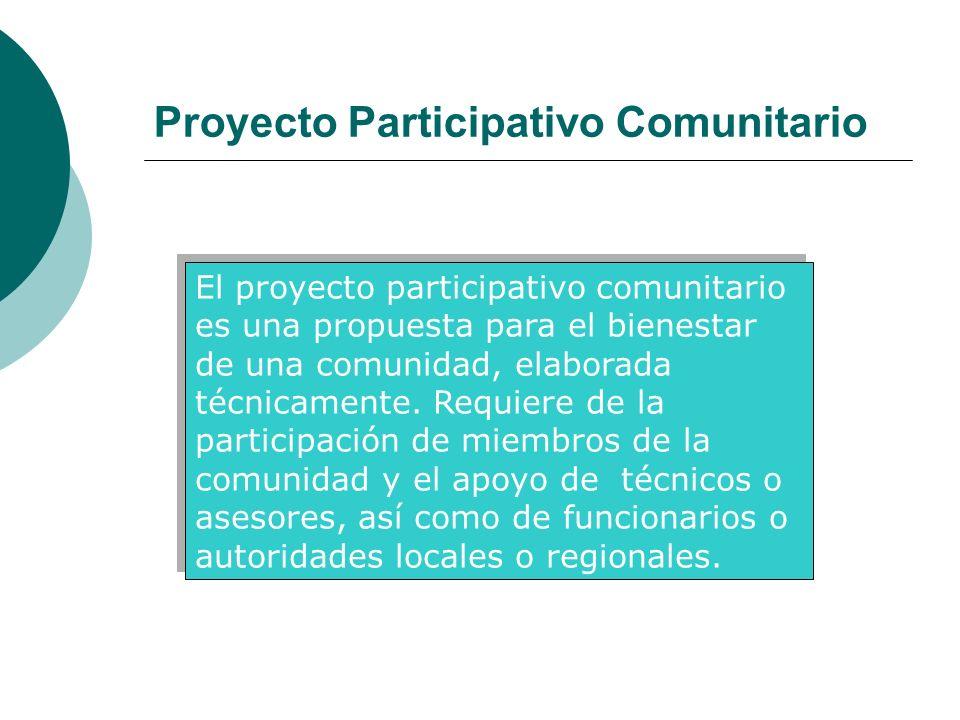 Proyecto Participativo Comunitario