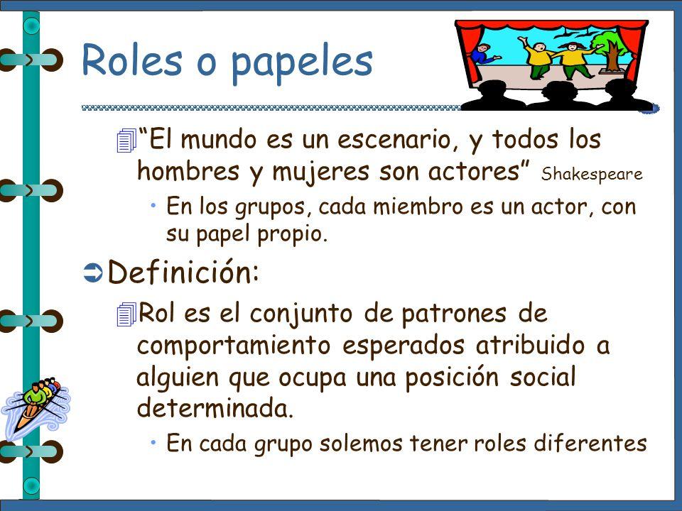 Roles o papeles Definición: