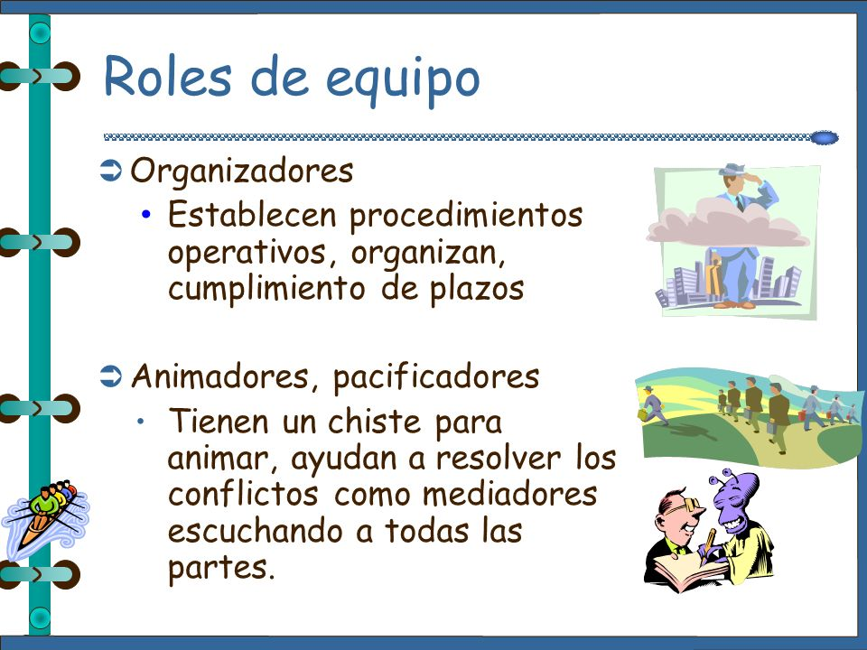 Roles de equipo Organizadores
