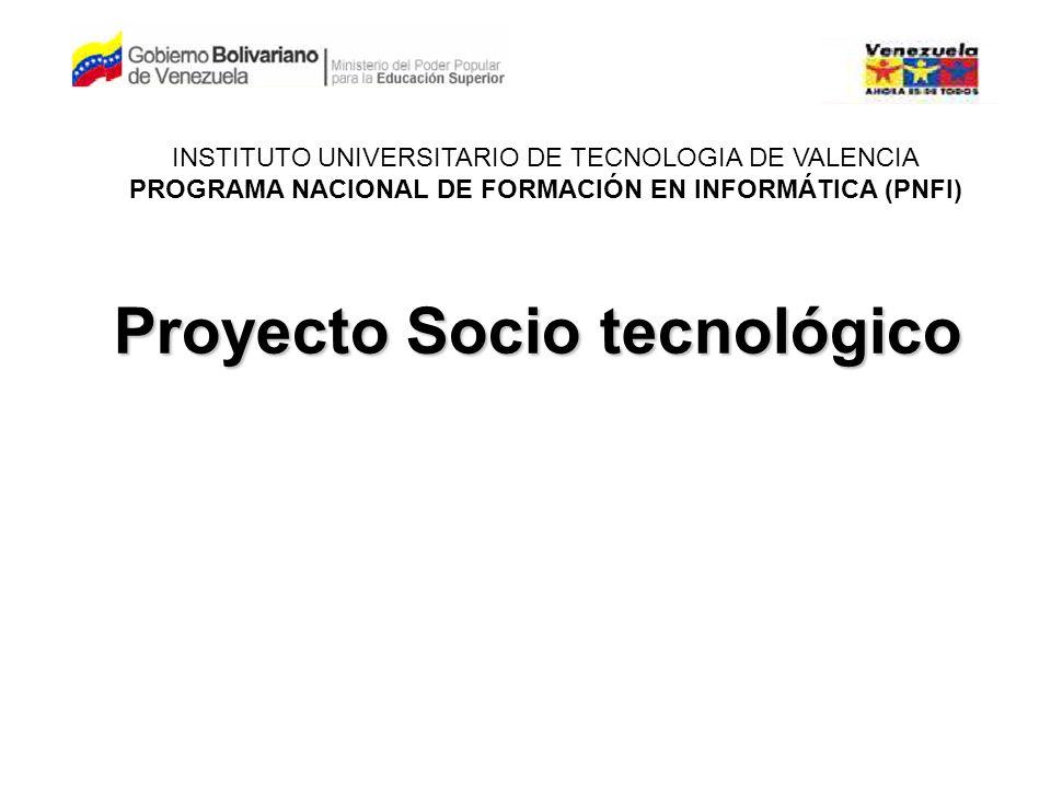 Proyecto Socio tecnológico