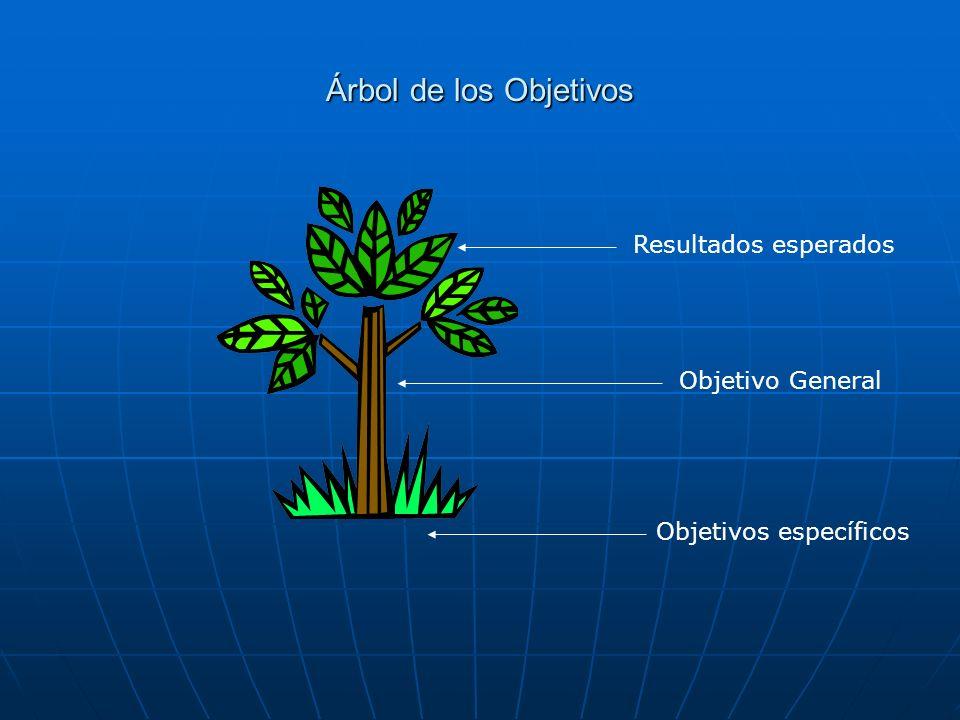 Árbol de los Objetivos Resultados esperados Objetivo General
