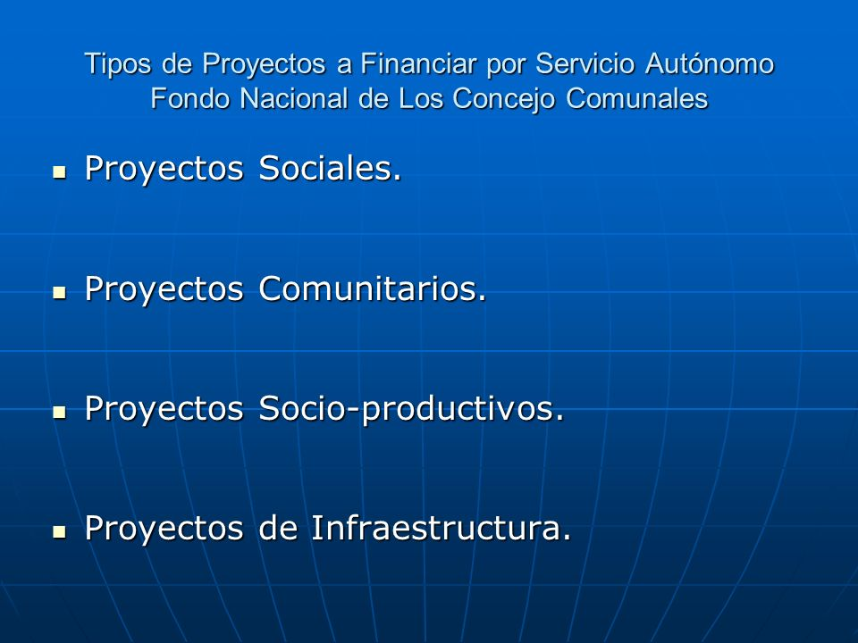 Proyectos Comunitarios.