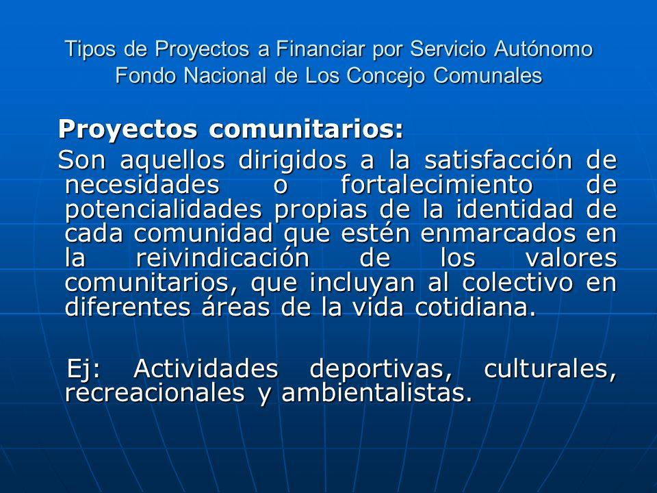 Proyectos comunitarios: