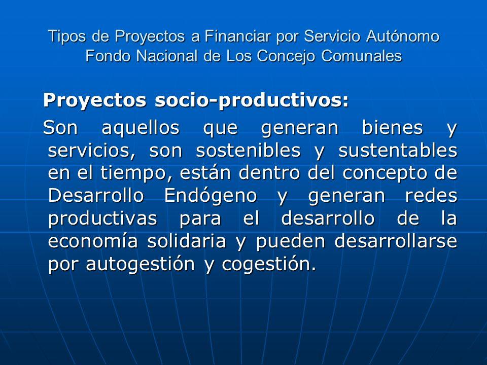Proyectos socio-productivos:
