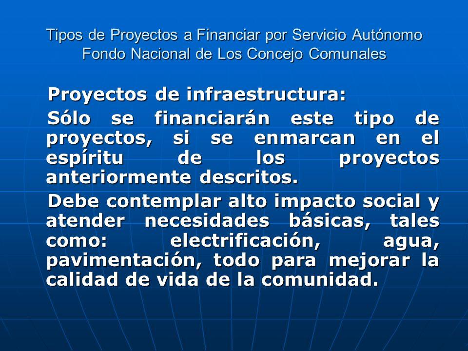 Proyectos de infraestructura:
