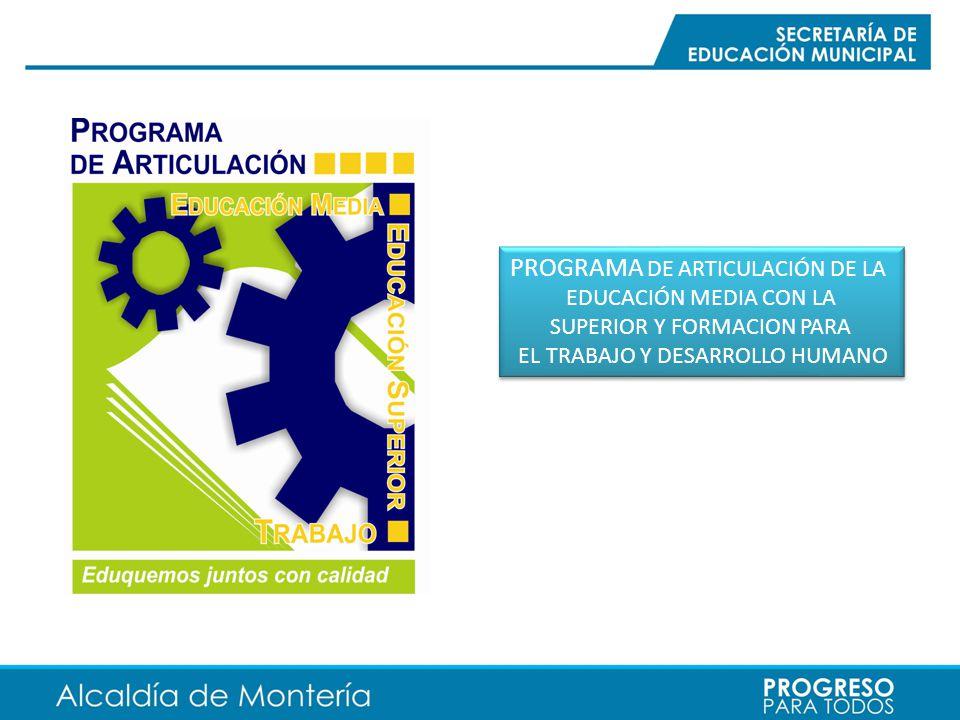 PROGRAMA DE ARTICULACIÓN DE LA