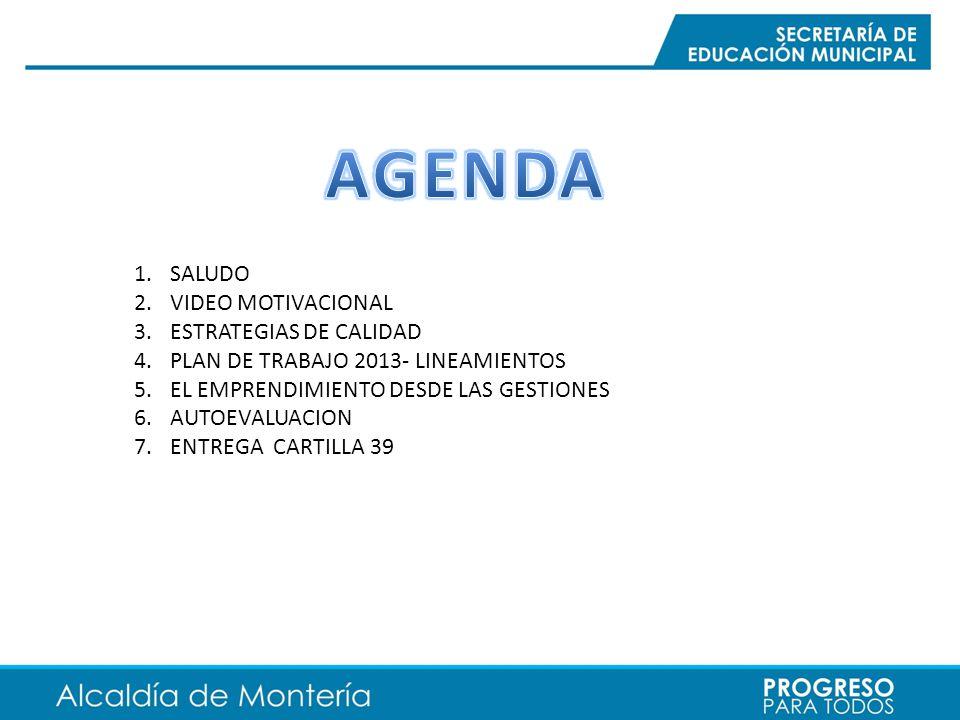 AGENDA SALUDO VIDEO MOTIVACIONAL ESTRATEGIAS DE CALIDAD