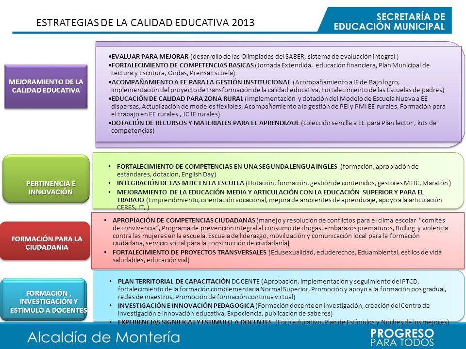 MEJORAMIENTO DE LA CALIDAD EDUCATIVA