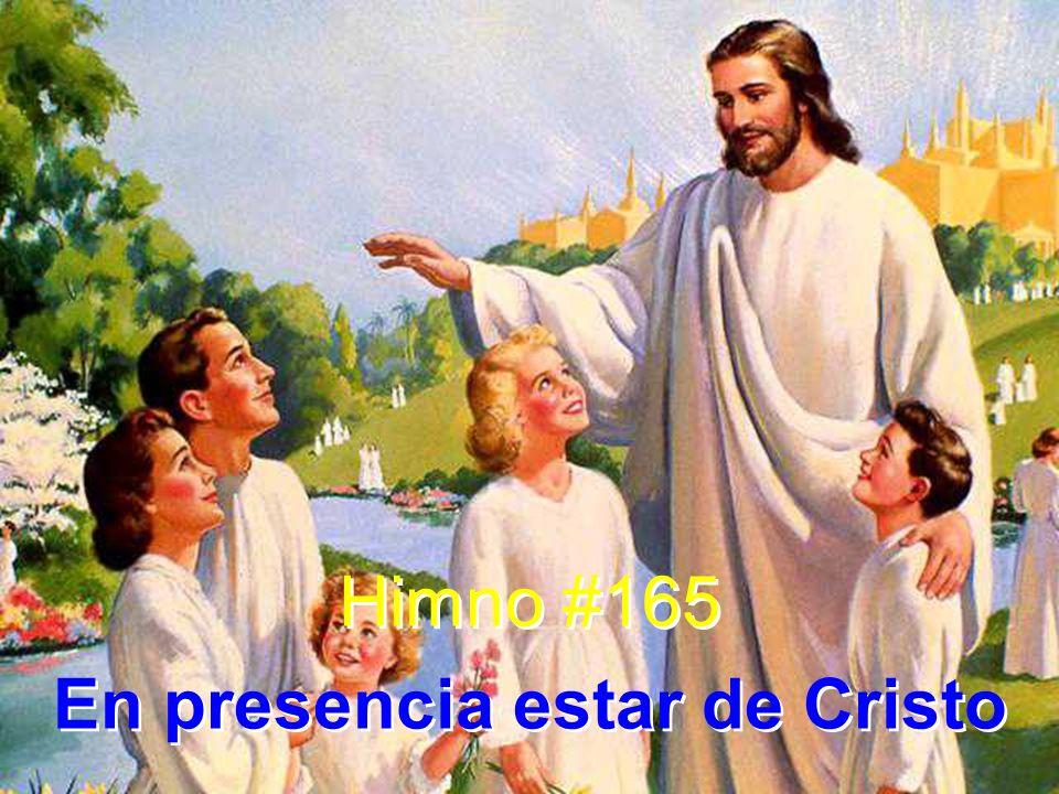 En presencia estar de Cristo