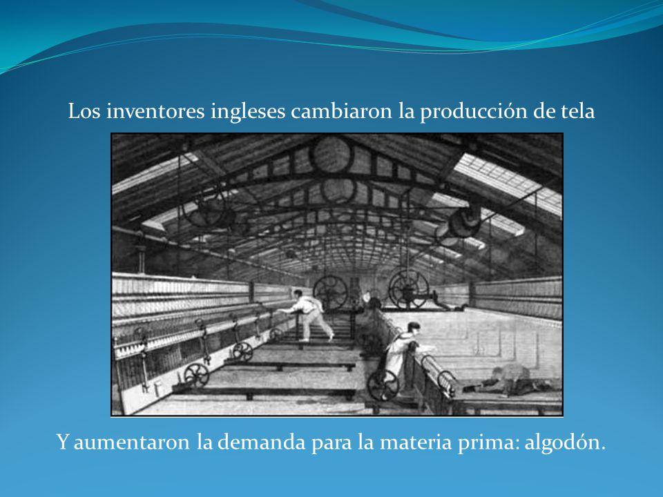 Los inventores ingleses cambiaron la producción de tela