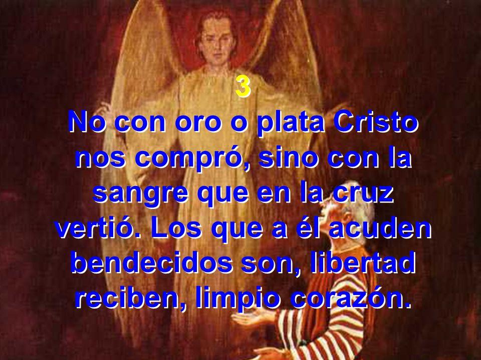 No con oro o plata Cristo