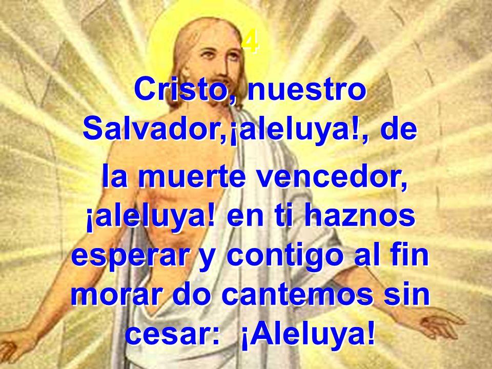 Cristo, nuestro Salvador,¡aleluya!, de