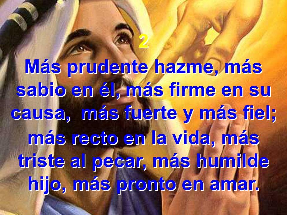 2 Más prudente hazme, más sabio en él, más firme en su causa, más fuerte y más fiel;