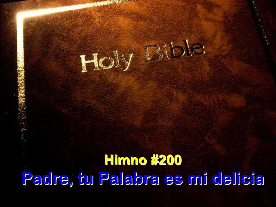 Padre, tu Palabra es mi delicia