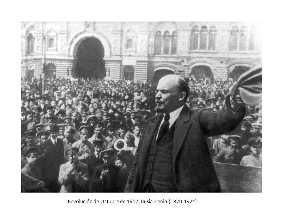 Revolución de Octubre de 1917, Rusia. Lenin (1870-1924)