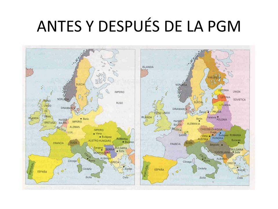 ANTES Y DESPUÉS DE LA PGM