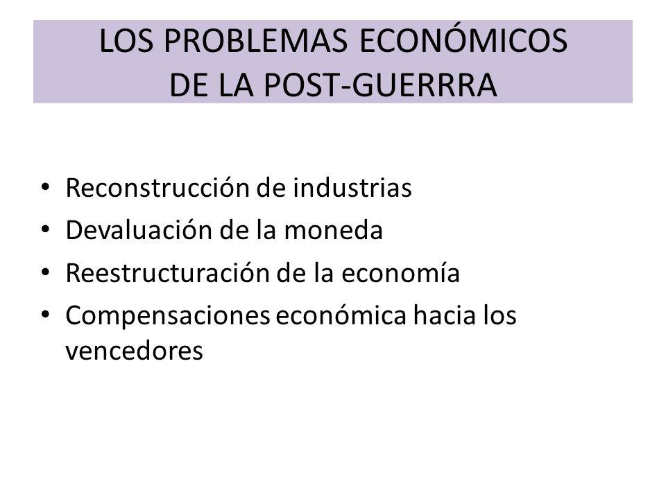 LOS PROBLEMAS ECONÓMICOS DE LA POST-GUERRRA