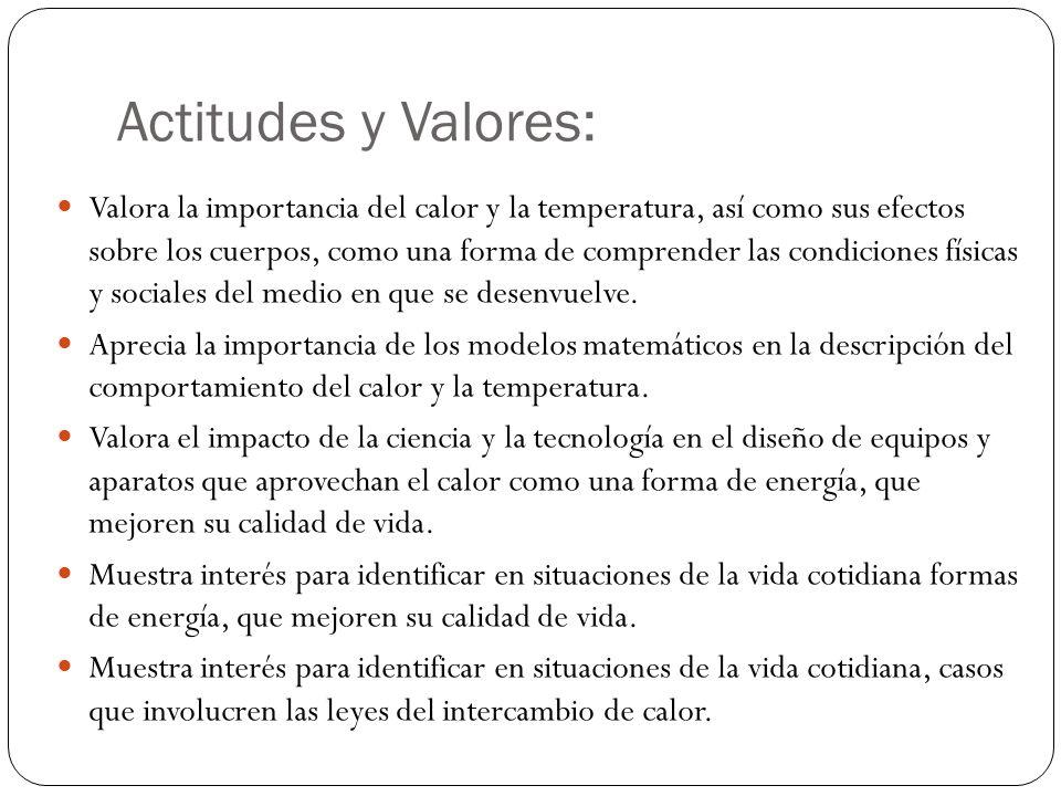 Actitudes y Valores: