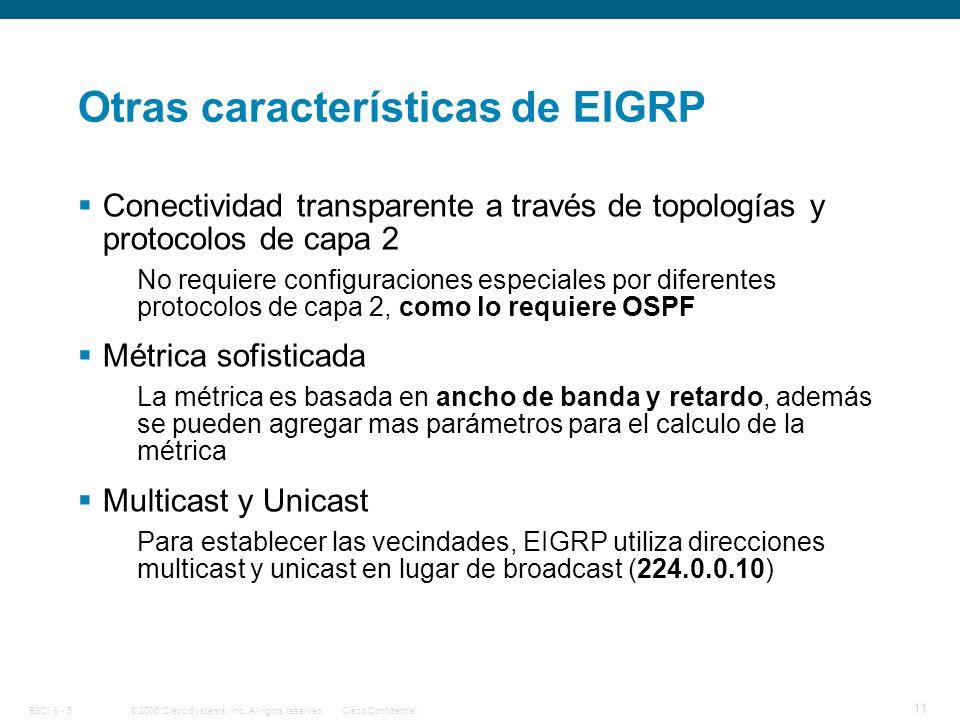 Otras características de EIGRP