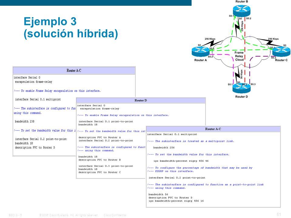 Ejemplo 3 (solución híbrida)