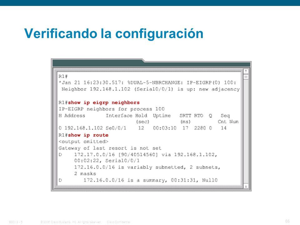 Verificando la configuración
