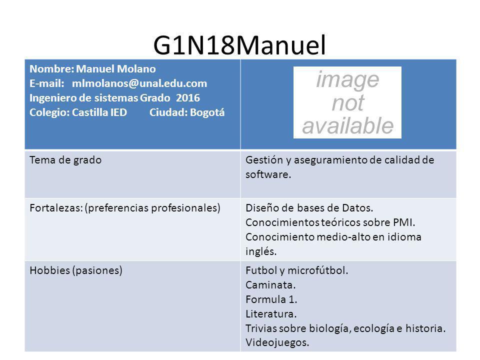 G1N18Manuel Nombre: Manuel Molano E-mail: mlmolanos@unal.edu.com