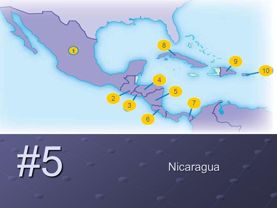 2 3 4 5 6 7 8 9 10 #5 Nicaragua