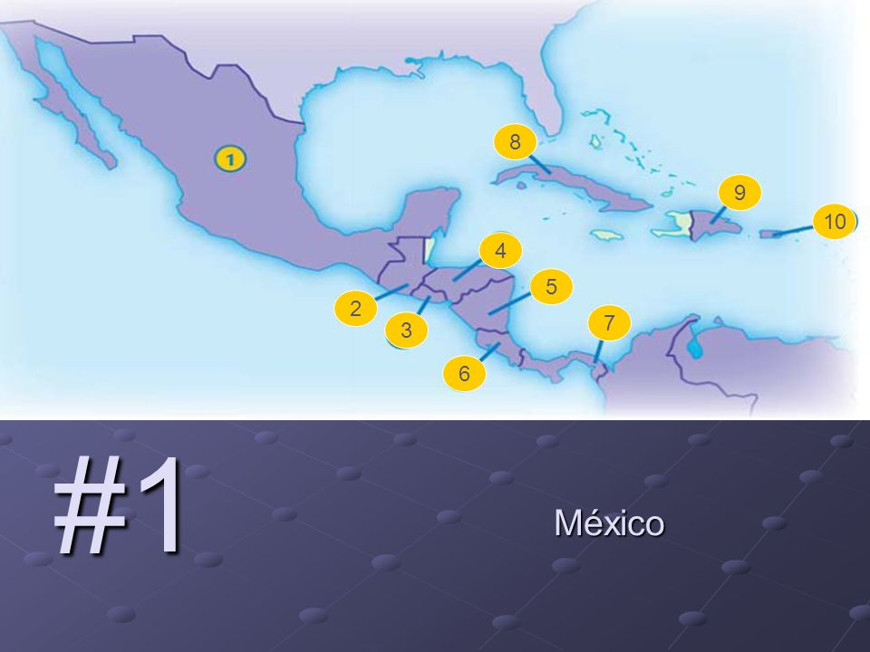 2 3 4 5 6 7 8 9 10 #1 México