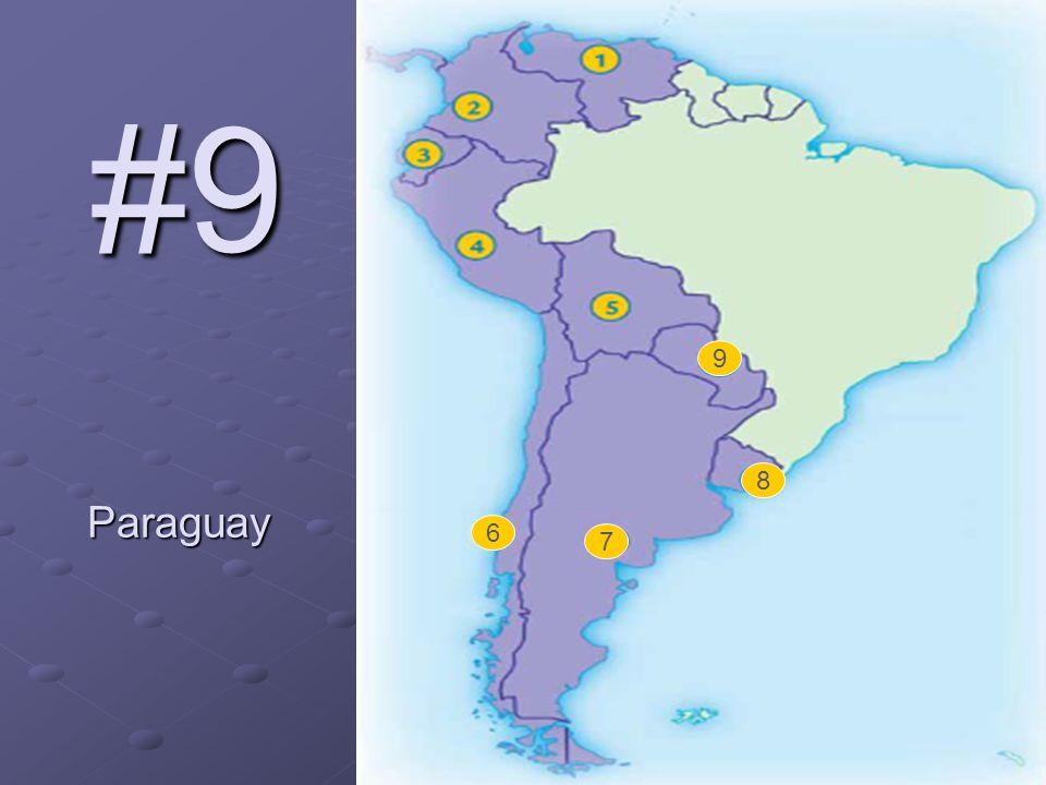 6 7 8 9 #9 Paraguay